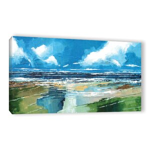 Rectangular Sea View II Painting Print on Wrapped Canvas by Breakwater Bay