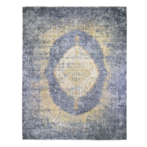 One-of-a-Kind Hand-Knotted Gray/Yellow 12' x 15'1 Area Rug