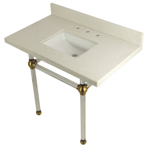 Quartz 36 Single Bathroom Vanity Set by Kingston Brass