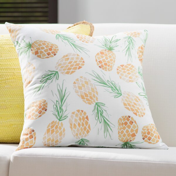 Thirlby Pineapples Throw Pillow by Beachcrest Home