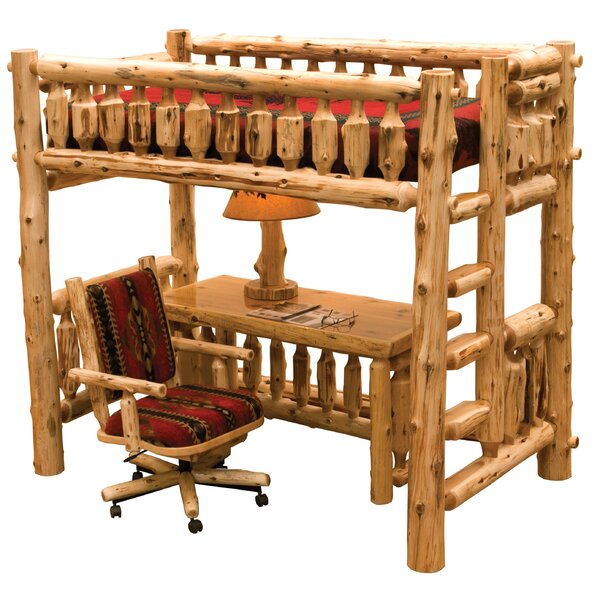 Cedar Left Ladder Twin Loft Bed by Fireside Lodge