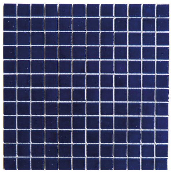 Mileto 0.8 x 0.8 Ceramic Mosaic Tile in Dark Blue by NovoTileStudio