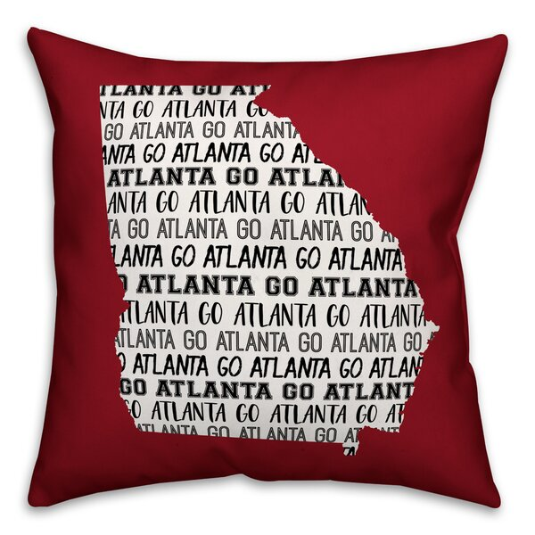Georgia Go Team Throw Pillow by East Urban Home