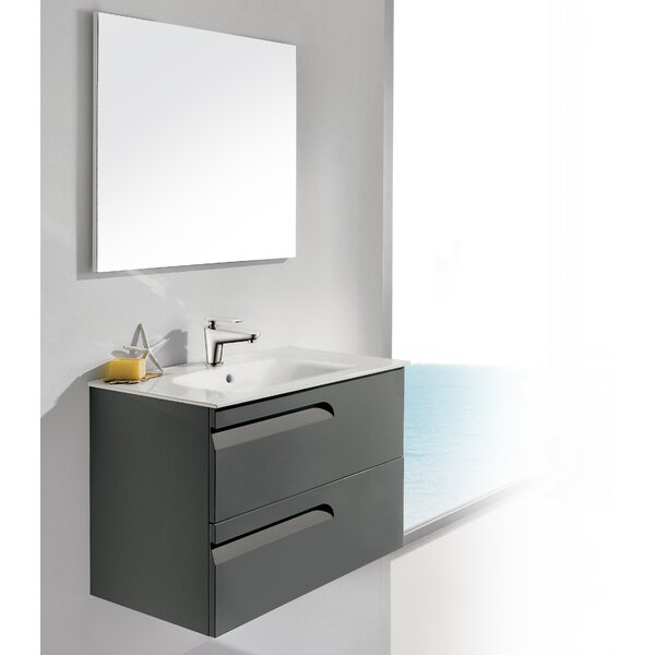 Vitale 32 Single Bathroom Vanity Set with Mirror by Dawn USA