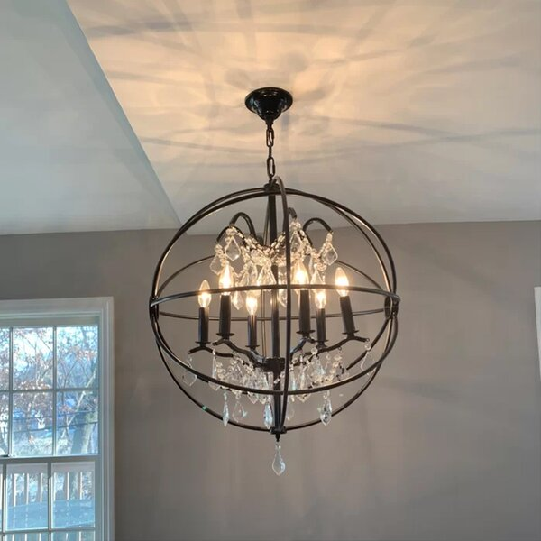 Calderdale 6-Light Unique / Statement Globe Chandelier By Willa Arlo Interiors