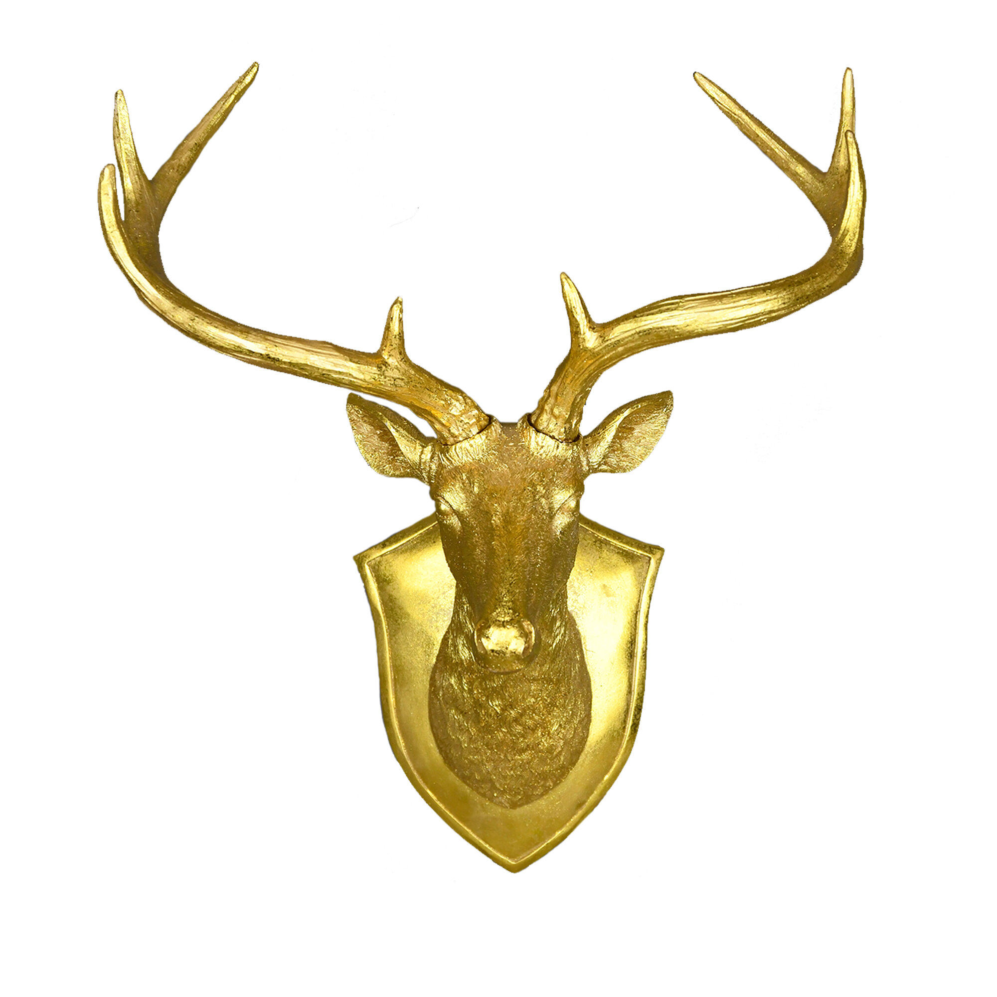 The Holiday Aisle Faux Deer Head Wall Décor | Wayfair
