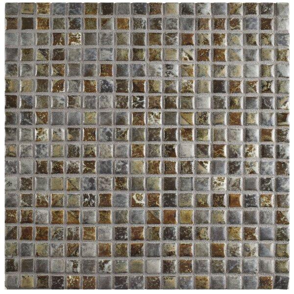 Arcadia 0.56 x 0.56 Porcelain Mosaic Tile in Noce Slate by EliteTile