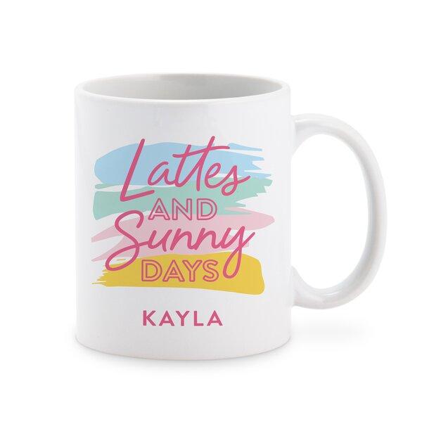 Eatonton Lattes and Sunny Days Personalized Coffee Mug by Winston Porter