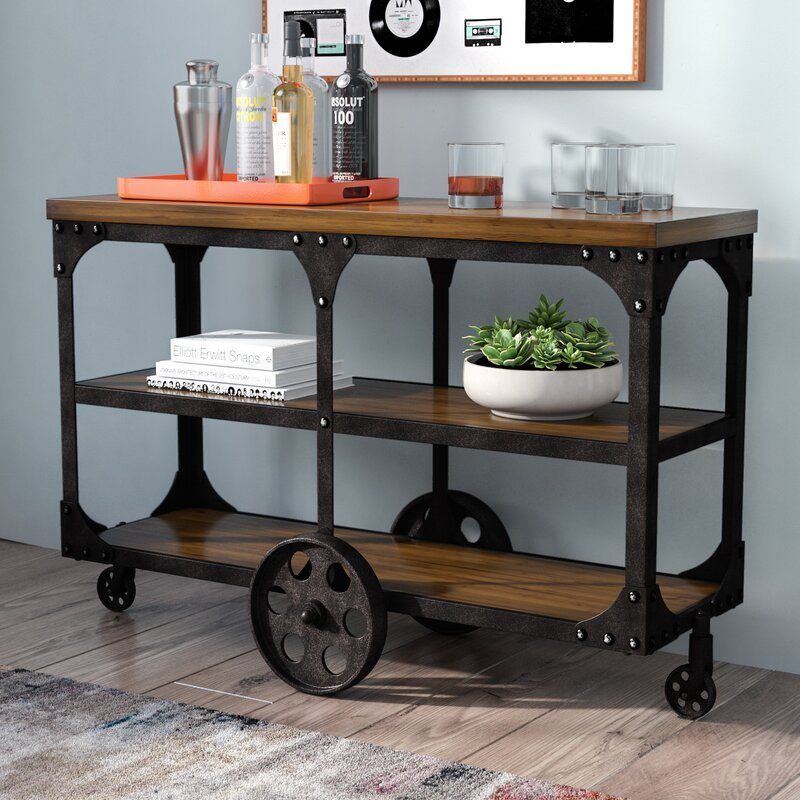 Wheeled Console Table ~ Trent austin design corinne wheeled sofa table reviews
