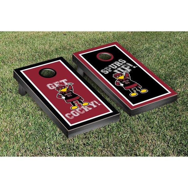 NCAA South Carolina Gamecocks USC Get Cocky Version Cornhole Game Set by Victory Tailgate