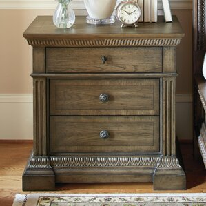 Deverel 3 Drawer Nightstand by World M..