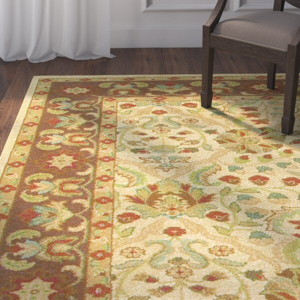Blumenthal Latte/Chocolate Area Rug by Astoria Grand
