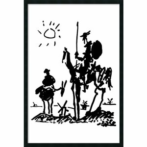 'Don Quixote' by Pablo Picasso Framed Painting Print by Red Barrel Studio