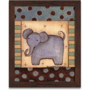 'Baby Elephant' Framed Art by Harriet Bee