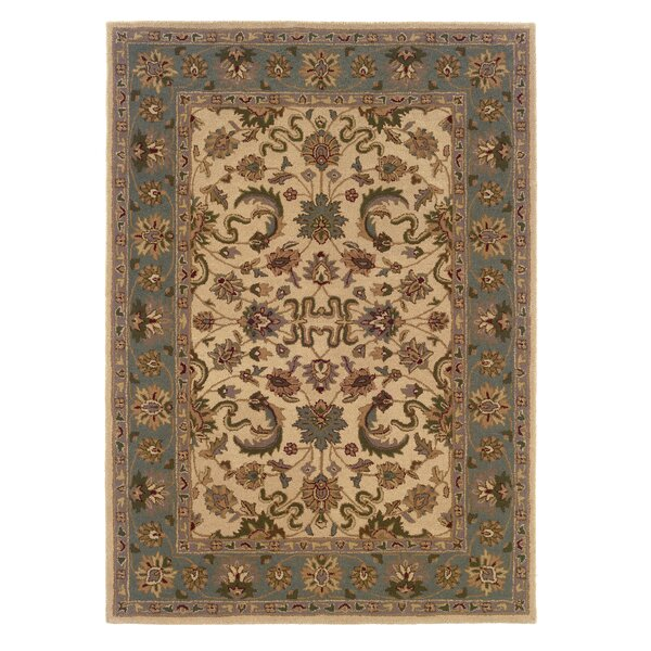 Columban Hand-Tufted Beige/Gray Area Rug by Charlton Home