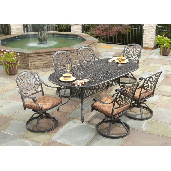 Artie 7 Piece Dining Set with Cushions by One Allium Way