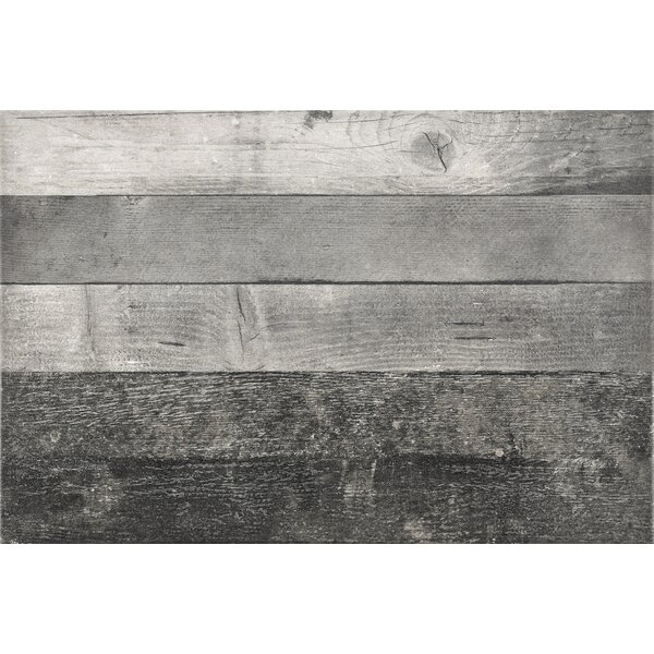 Parq 3.5 x 36 Porcelain Wood Look/Field Tile in Gray by Madrid Ceramics