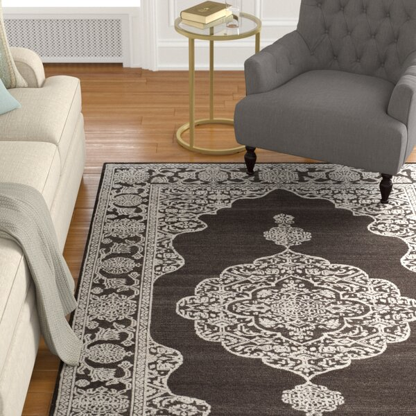 Bloomsburg Hand-Knotted Brown/Linen Area Rug by Astoria Grand