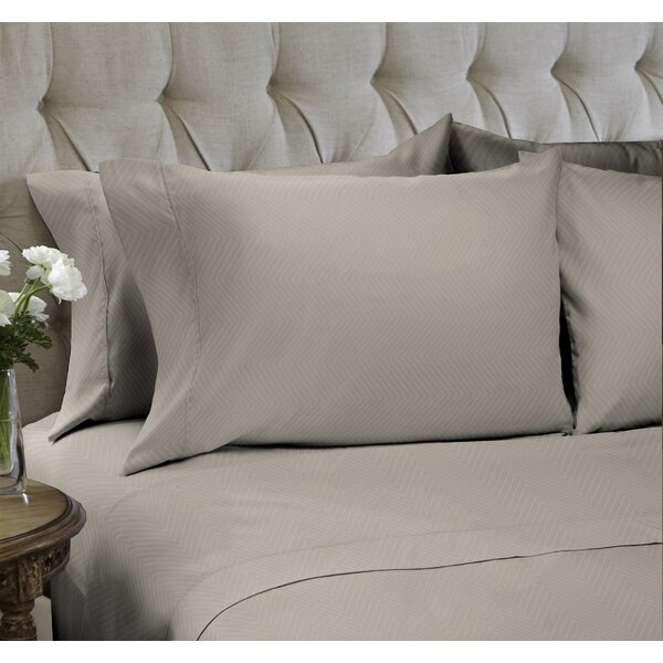 Chevron Embossed 4 Piece Sheet Set by Easy Living Home
