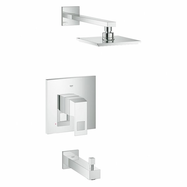 Eurocube Volume Control Tub and Shower Faucet by Grohe