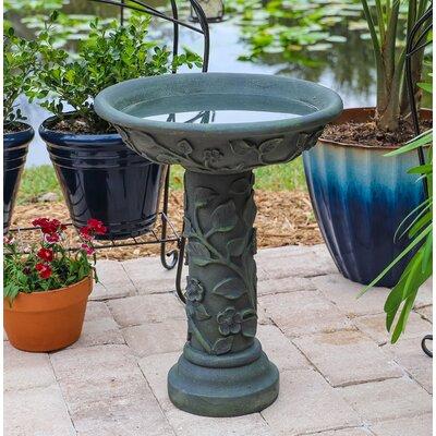 Leona Outdoor Birdbath Wildon Home®