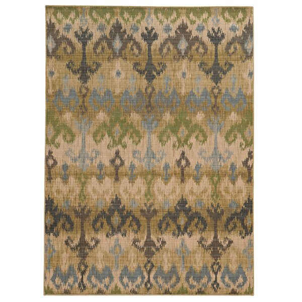 Vintage Hand-Woven Wool Beige/Blue Area Rug by Tommy Bahama Home