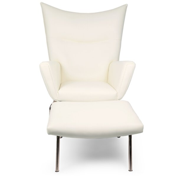 Wingback Chair & Ottoman by Kardiel
