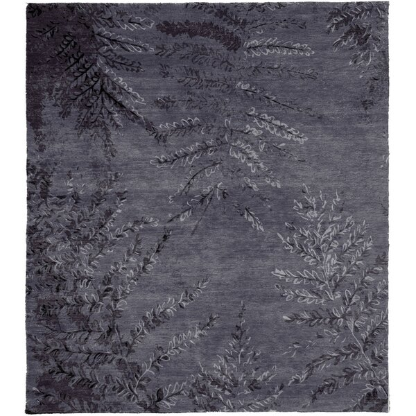 One-of-a-Kind Bellville Hand-Knotted Traditional Style Gray 9' x 12' Wool Area Rug