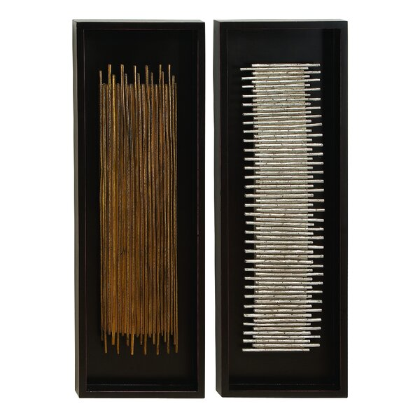 2 Piece Natural Wooden Twig Wall Decor Set by Bloomsbury Market