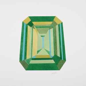 Gem Cut Series: Emerald Cut Graphic Art on Wrapped Canvas by East Urban Home