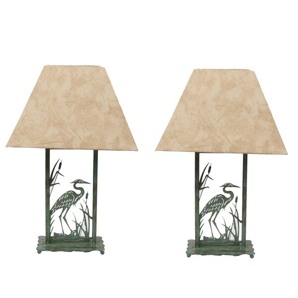 Heron Die-Cut 17.5 Table Lamp (Set of 2) by DEI