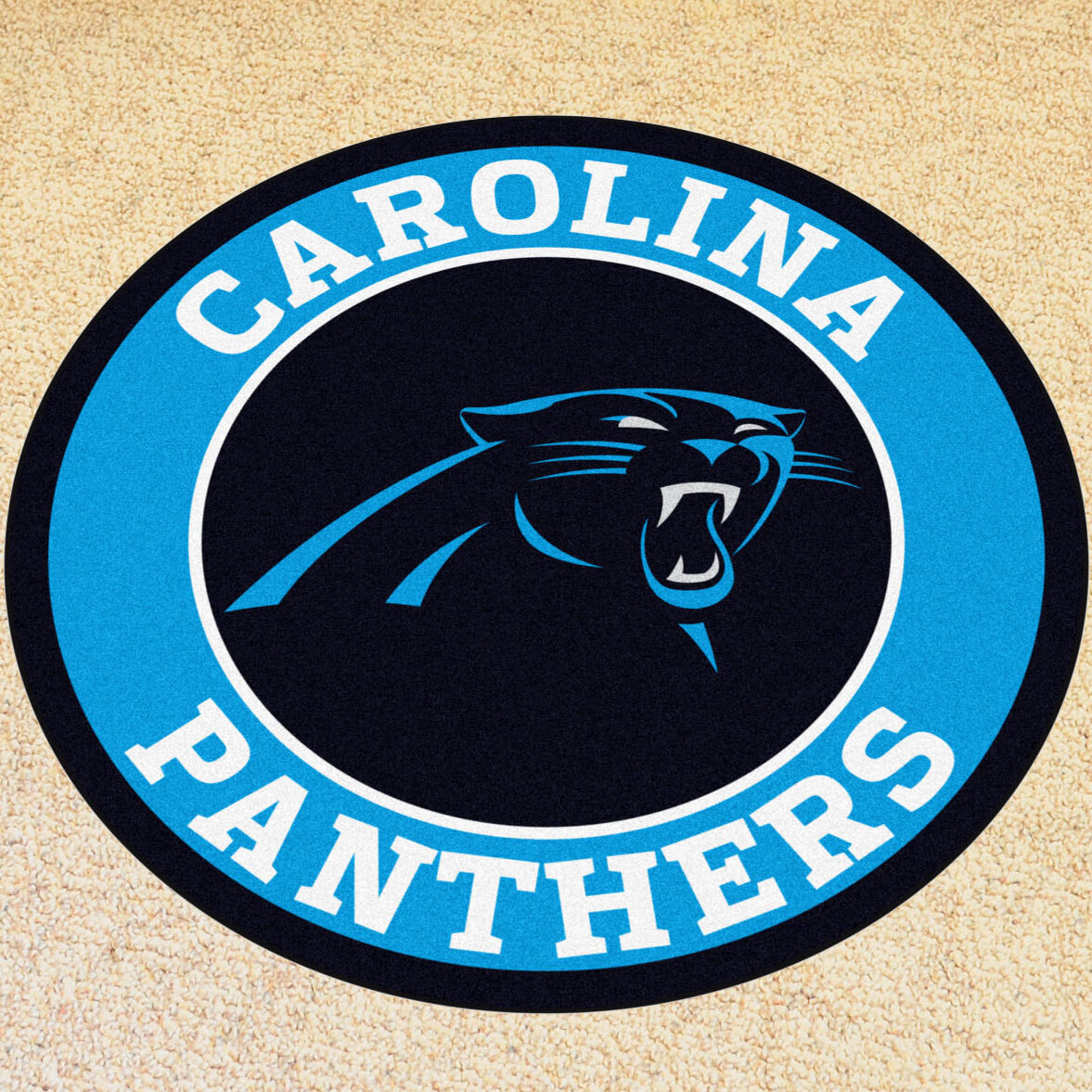 island kitchen cabinet fanmats nfl carolina panthers roundel mat amp reviews wayfair 17953