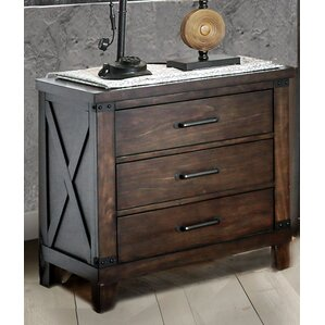 Daramanivong 3 Drawer Nightstand by Loon Peak