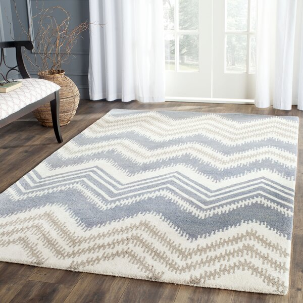 Hodges Blue/Ivory Area Rug by Wrought Studio