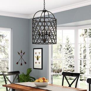 Lantern chandeliers youll love wayfair nyyear 4 light drum chandelier mozeypictures Gallery
