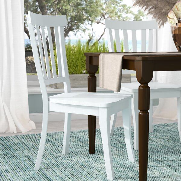 Zeinab Slat Back Solid Wood Dining Chair (Set of 2) by Beachcrest Home