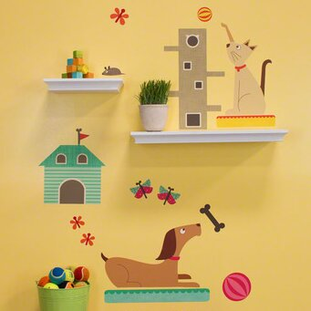 Creature Comforts Peel and Place Wall Decal Set by Oopsy Daisy