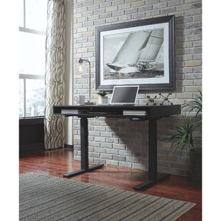 Buy luxury Rothwell Standing Rectangular with Hutch Desk ByWilliston Forge
