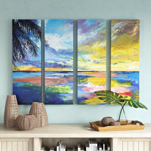 Islamoradana Sunset 4 Piece Painting Print on Wrapped Canvas Set by Bay Isle Home