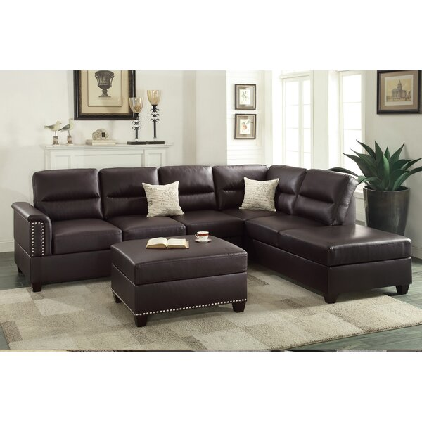 Free S&H Lebrun Reversible Sectional With Ottoman