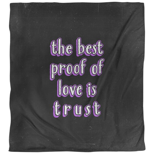 Love & Trust Quote Single Duvet Cover