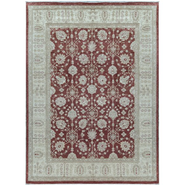 Ziegler Oriental Hand-Knotted Wool Red/Cream Area Rug