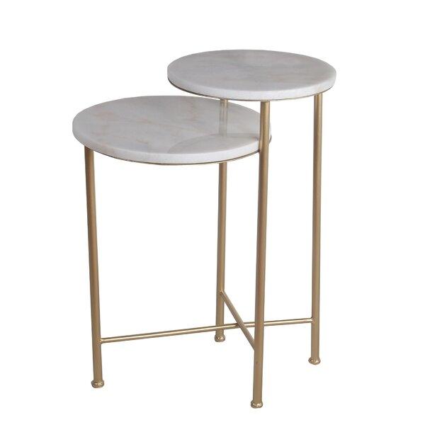 Dierks Marble End Table By Mercer41