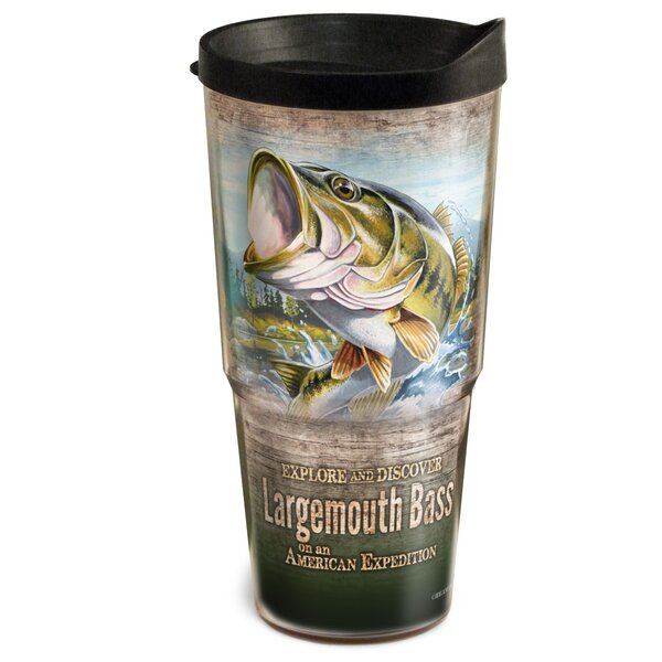 Fishing Hole Bass 2-Tier 24 oz. Plastic Travel Tumbler by American Expedition