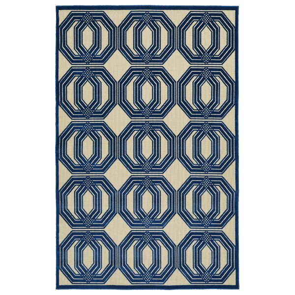 Covedale Navy Indoor/Outdoor Area Rug by Charlton Home