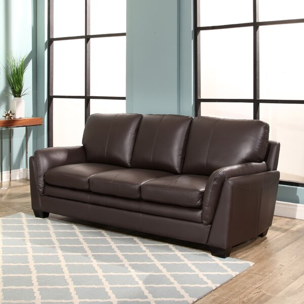 Best Discount Quality Whitstran Leather Sofa by Darby Home Co by Darby Home Co