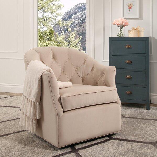 Guthridge Swivel Barrel Chair by Alcott Hill