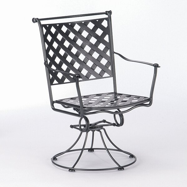 Maddox Swivel Patio Dining Chair by Woodard