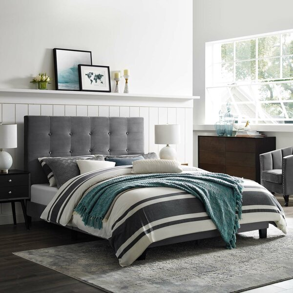 Chadwick Tufted Button Upholstered Platform Bed By Hashtag Home by Hashtag Home Savings