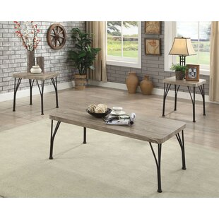 Compare prices Apodaca Industrial 3 Piece Coffee Table Set By Williston Forge